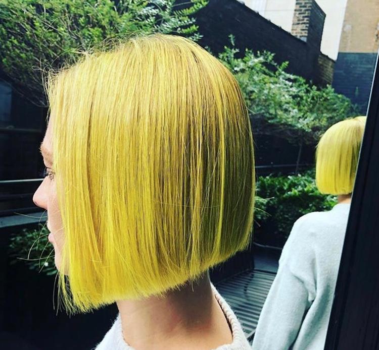 gele haarkleur