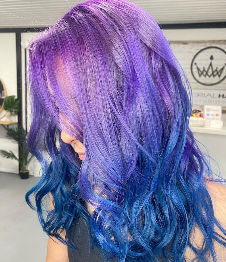 paars blauwe haarkleuren