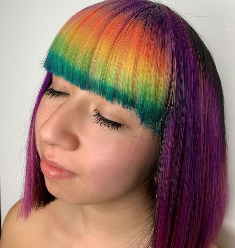 regenboog haarkleur