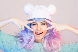 snoep haarkleuren pastel